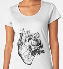 Floral Anatomical Heart Women's Premium T-Shirt