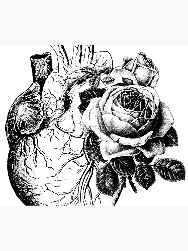 Floral Anatomical Heart by kaespo