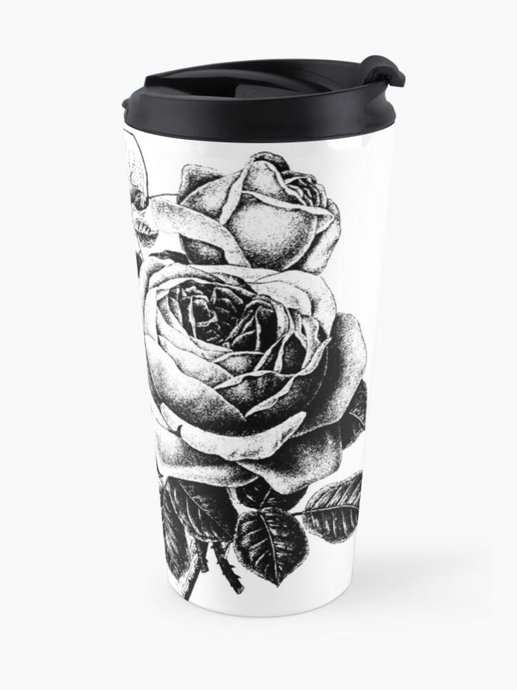Alternate view of Floral Anatomical Heart Travel Mug