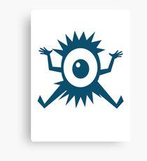 Eye Ball Cyclops Cartoon Creature Canvas Print