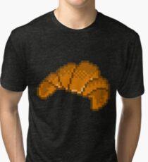 Croissant 8 Bit Tri-blend T-Shirt