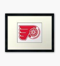 Flyers - Red Wings Logo Mashup Framed Print