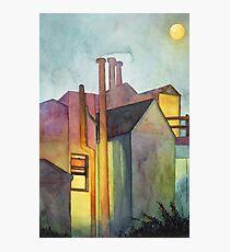 Rear Window Watercolor Photographic Print