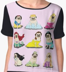 Pug Princesses Version 2 Chiffon Top
