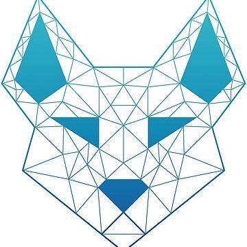 "Geometric Canine - ""Sea"" by GeometricFR"