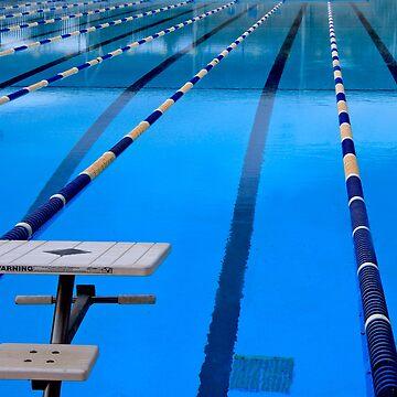 Swimming Pool - Blue & Cool by Buckwhite