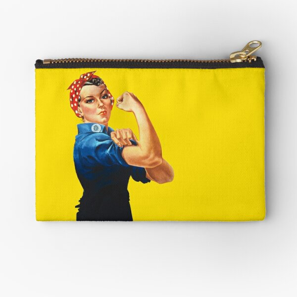Rosie The Riveter Retro Style design Zipper Pouch