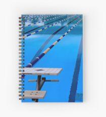 Schwimmbad - blau und cool Spiralblock