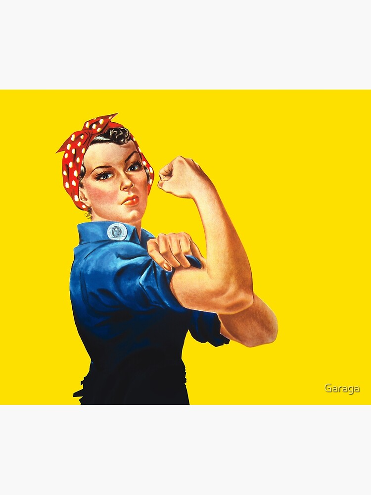 Rosie The Riveter Retro Style design by Garaga