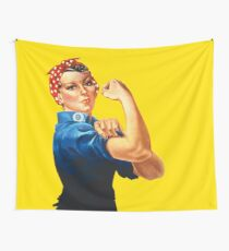 Rosie The Riveter Retro Style design Wall Tapestry