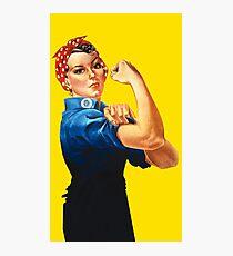 Rosie The Riveter Retro Style design Photographic Print