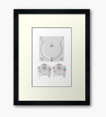 Dreamcast (white) Framed Print