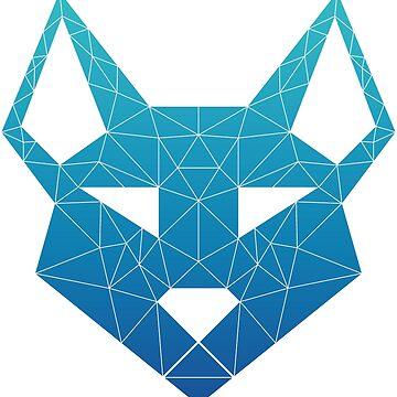"Geometric Canine - ""Sea"" Inverted by GeometricFR"