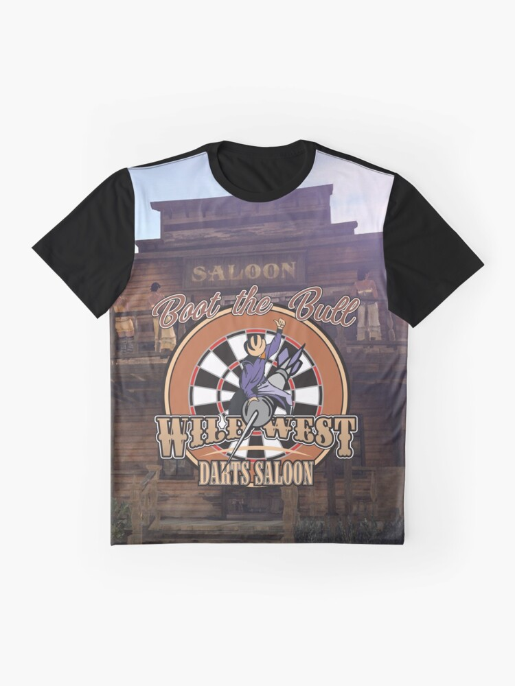 Alternate view of Wild West Darts Saloon Darts Shirt Graphic T-Shirt