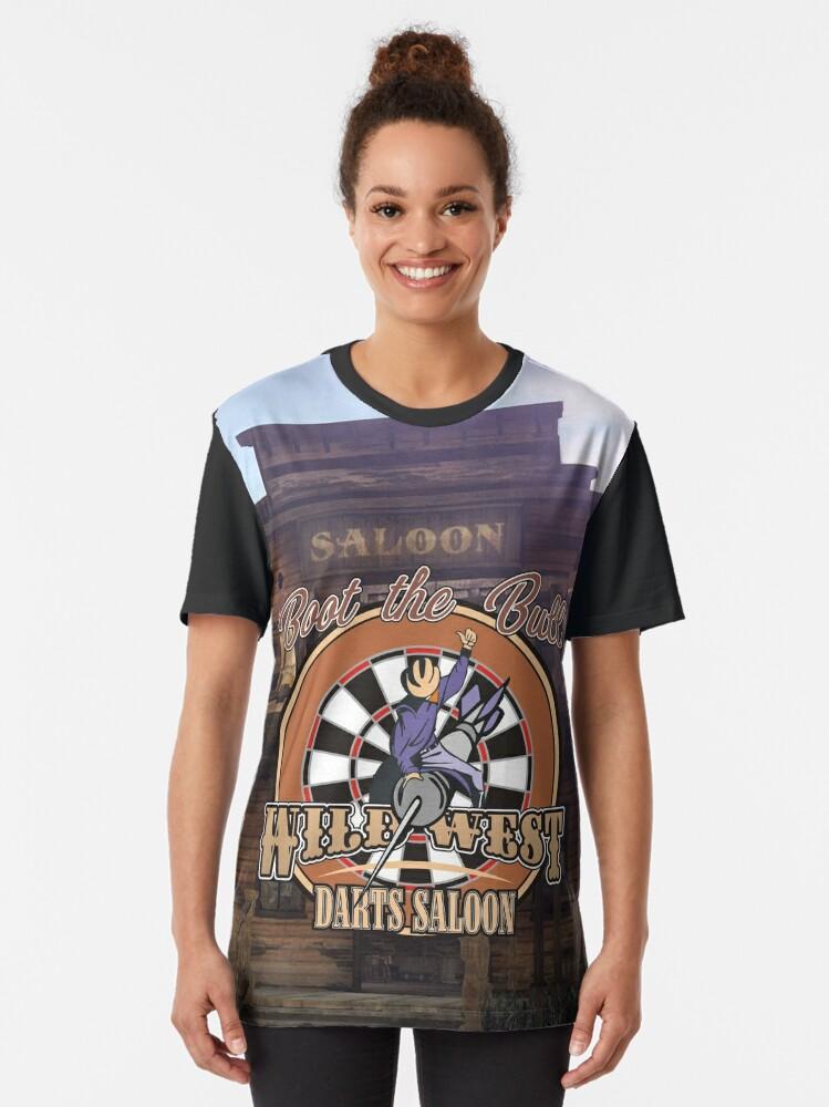 Alternate view of Wild West Darts Saloon Darts Shirt Graphic T-Shirt