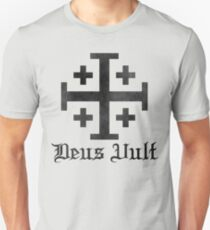 Crusader Cross - Deus Vult - Worn T-Shirt
