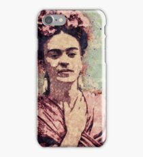 Frida Kahlo Illustrated Print iPhone Case/Skin
