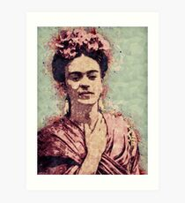 Frida Kahlo Illustrated Print Art Print