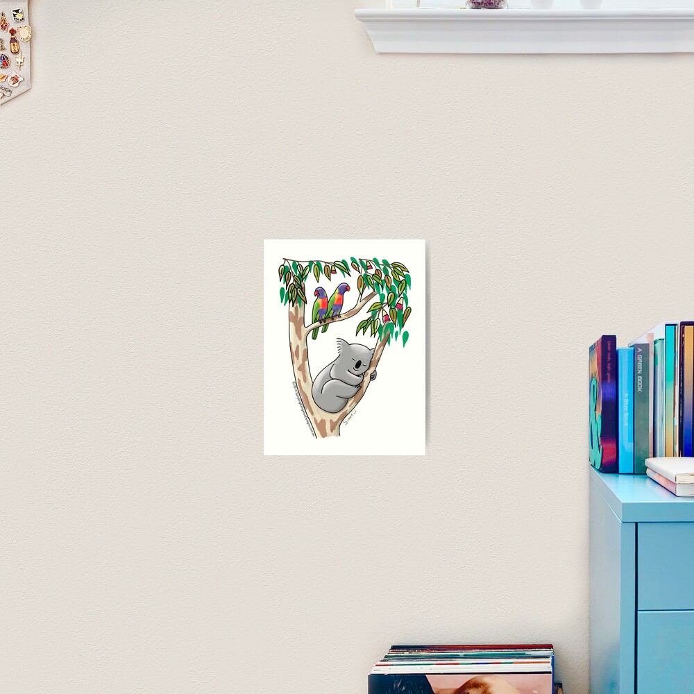 Sweet Dreams Sleeping Koala Art Print
