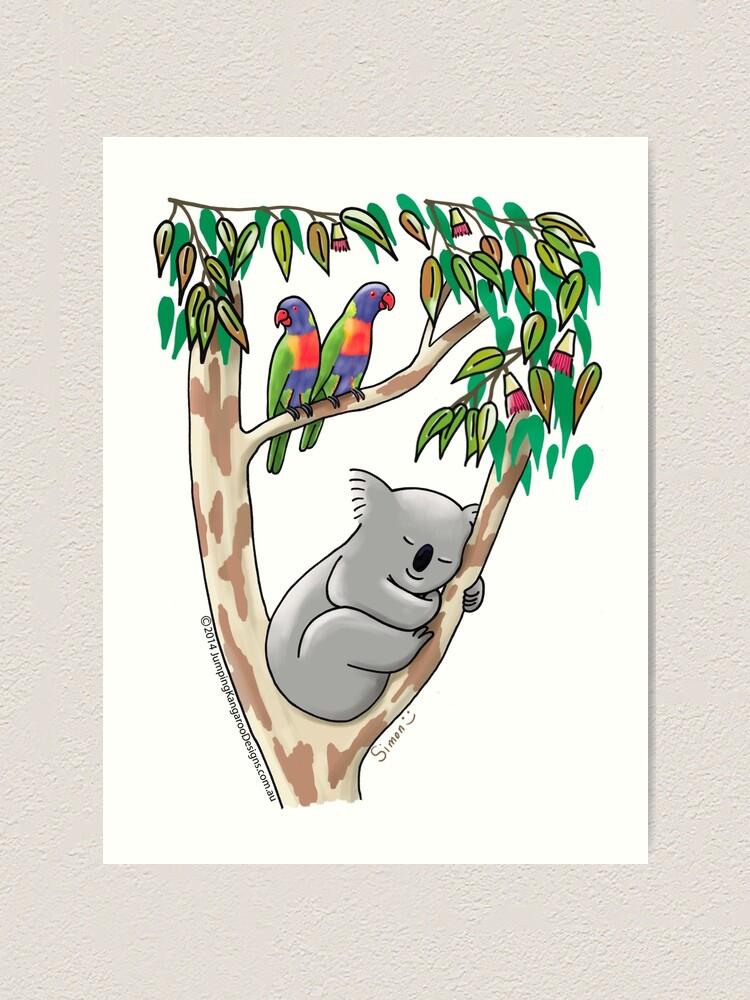 Alternate view of Sweet Dreams Sleeping Koala Art Print