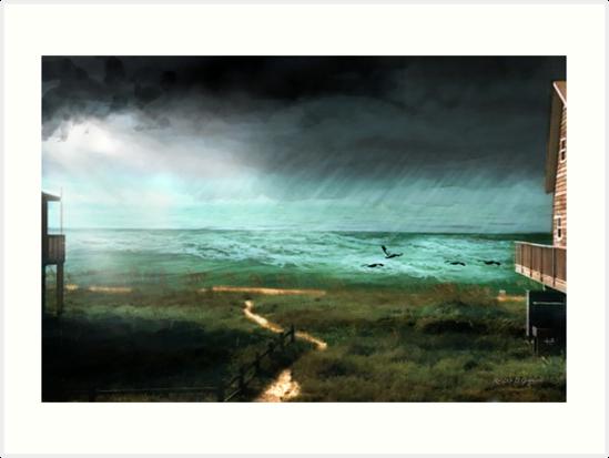 St. George Rain Storm by Rhonda Strickland