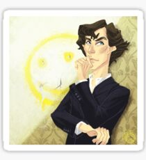 Sherlock with a Smiley Sticker