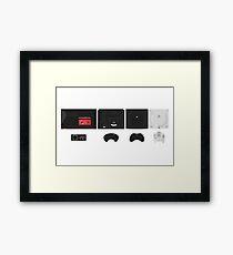 Sega (white) Framed Print