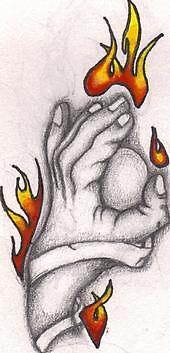 flaming hand by bloodbath