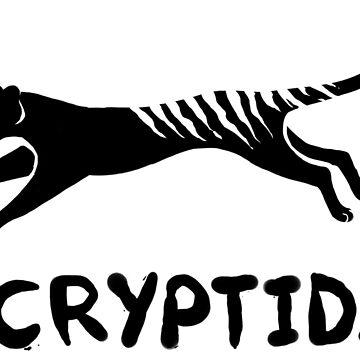 Cryptid Thylacine- Black by NuclearLemons
