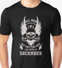 Born in December. Birthday T-Shirt. Unisex T-Shirt