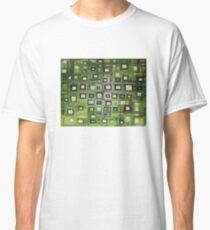 Green Pixels - Oil Painting Classic T-Shirt