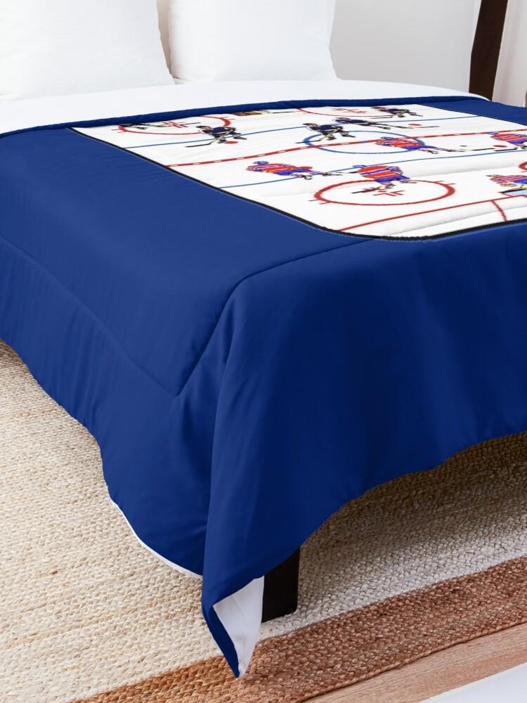 Alternate view of Pixel Art Hockey Rink Comforter
