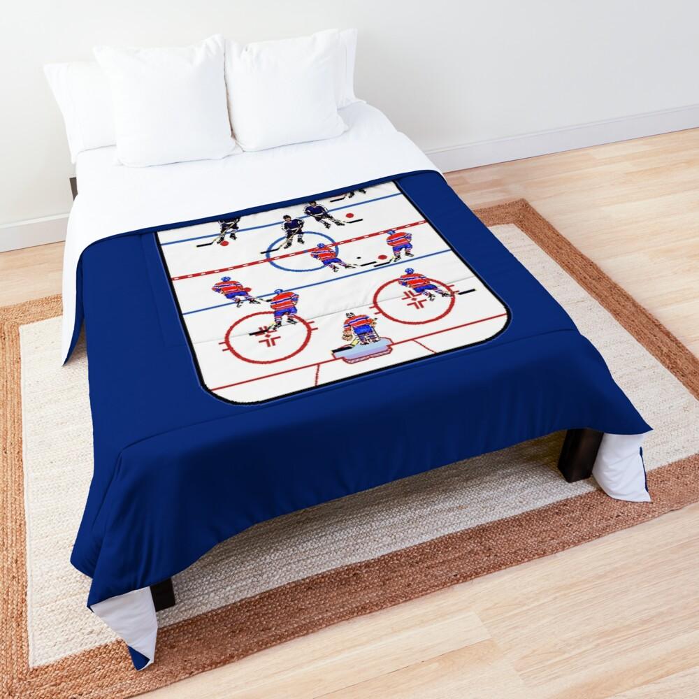 Pixel Art Hockey Rink Comforter