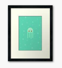Lime Jellyfish Framed Print