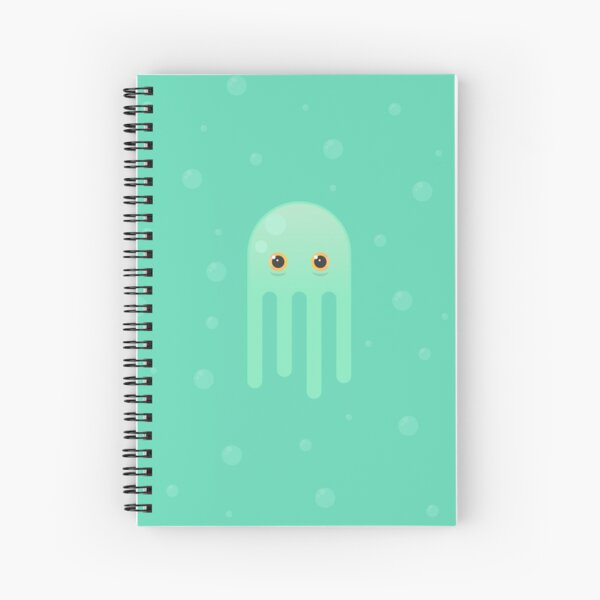 Lime Jellyfish Spiral Notebook