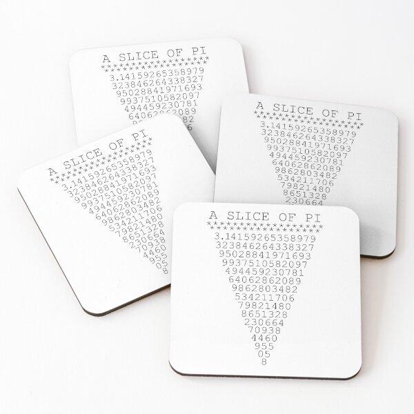 A Slice of Pi Coasters (Set of 4)