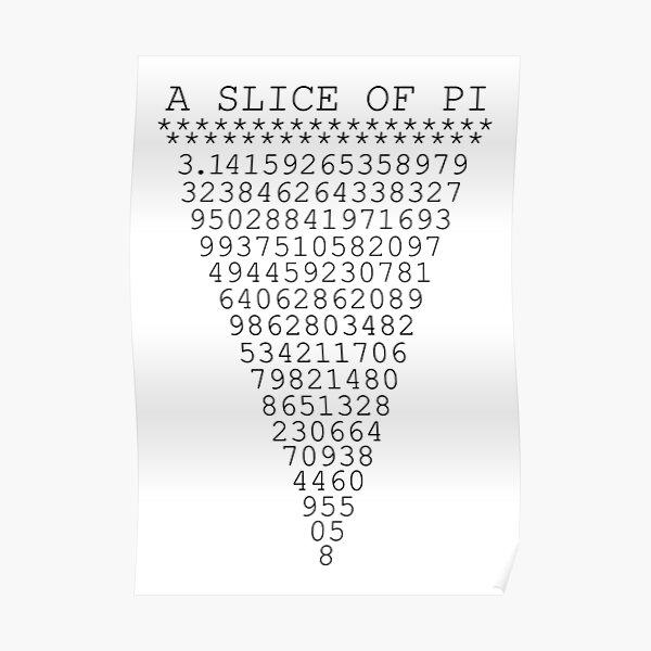 A Slice of Pi Poster