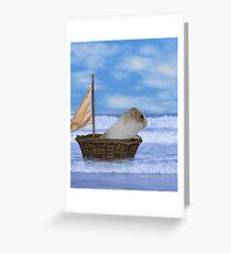 hamster sailor Greeting Card