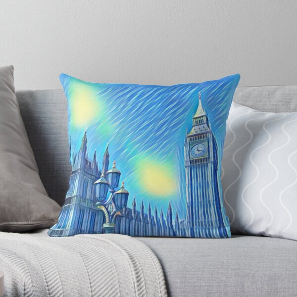 Big Ben - Van Gogh Version Throw Pillow