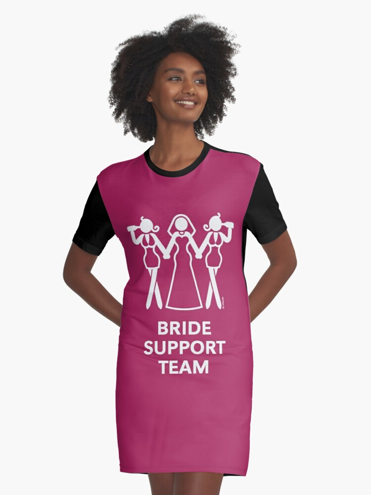 Vestidos camiseta «Equipo de apoyo de la novia (despedida de soltera ...
