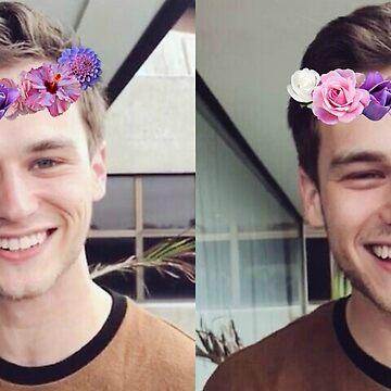 Brandon Flynn (Flower Crown)- Thirteen Reasons Why by racheld31