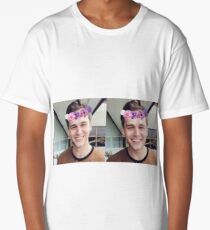Brandon Flynn (Flower Crown)- Thirteen Reasons Why Long T-Shirt