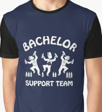 Bachelor Support Team / Beer Drinkers (Stag Party / White) Graphic T-Shirt