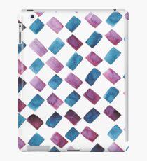 Watercolor brush strokes blue iPad Case/Skin