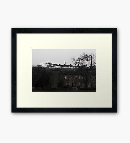 Winter in Edinburgh Framed Print