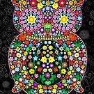 Owl Zentangle Floral by BluedarkArt