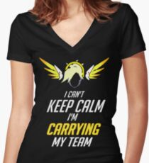 carrying Women's Fitted V-Neck T-Shirt
