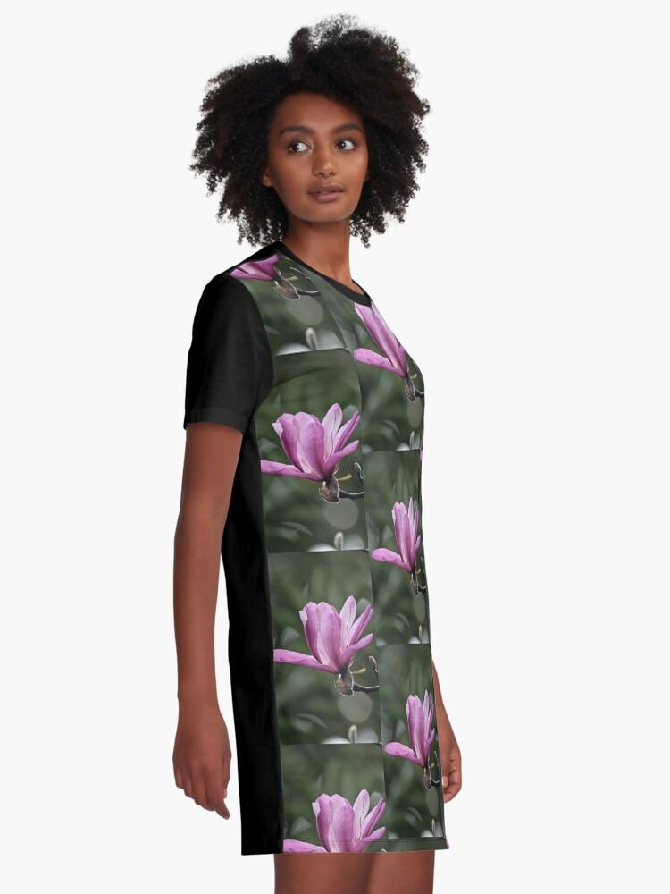 Alternative Ansicht von Magnolie in voller Blüte T-Shirt Kleid