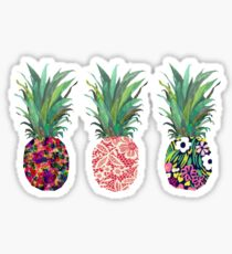 Artsy pineapples Sticker