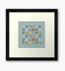 Animal Kingdom (blue) Framed Print